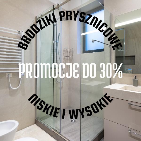 brodziki prysznicowe niskie